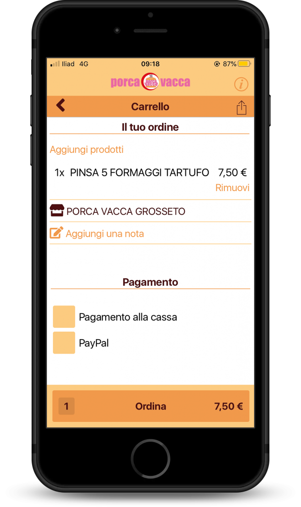 App per ordinazioni